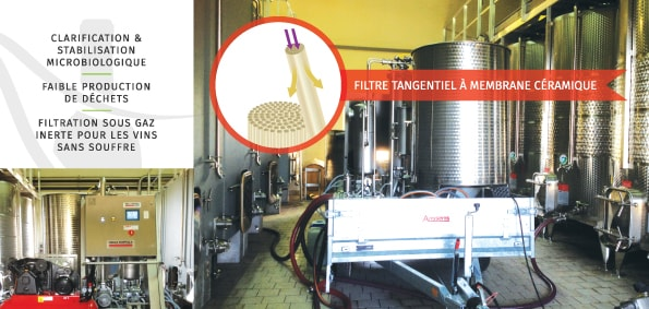 filtration tangentielle gironde entre 2 mers